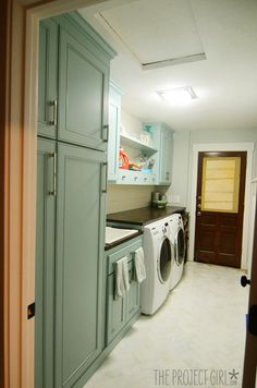 DSC_9887  -  Project Girl  -  beautiful turquoise laundry room with progress photos