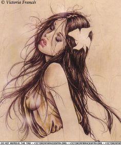 """Victoria Francés. Favole 1. Lágrimas de piedra. """"...y coronadas en su demencia, cual niñas en paraisos soñados, quedan esperando la escarcha..."""""""