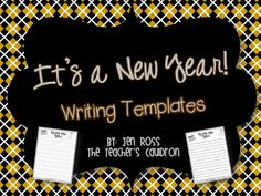 New Year's Writing freebie when  you become a fan of The Teacher's Cauldron Facebook page!