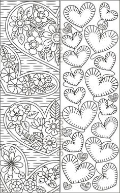 Coloring Bookmarks with Hearts – Coloring pages - Malvorlagen Mandala Heart Coloring Pages, Colouring Pages, Coloring Books, Detailed Coloring Pages, Paper Bookmarks, Free Printable Bookmarks, Printable Adult Coloring Pages, Book Markers, Mandala Coloring