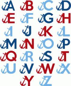 View Design #61011: nautical alphabet - capital letters