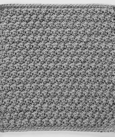 Raised Crochet Treble Square for Checkerboard Textures Throw