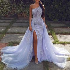 sliver prom dresses 2020 one shoulder beading sequins evenin.-sliver prom dresses 2020 one shoulder beading sequins evening dresses a line detachable train evening gowns - Lilac Prom Dresses, Sequin Evening Dresses, Lilac Dress, Gala Dresses, Cheap Prom Dresses, Homecoming Dresses, Wedding Dresses, Cute Dresses, Prom Gowns