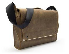 The Rough Rider is a tough leather messenger that doubles as a laptop bag.