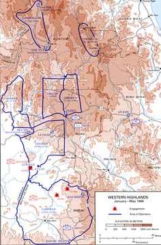 April 21 - May 5, 1966     Operation Mosby II starts, the 2d Brigade, 1st Cavalry Division (1/5, 2/5, 2/12 Cav) conducts search and destroy, reconnaissance in force and interdiction operations west of Highway 14 between Pleiku and Kontum provinces, II CTZ