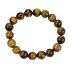 Armband Tigerauge Beads 10mm Energiearmband Heilstein Stein Perlen Powerarmband in Sammeln & Seltenes, Mineralien & Fossilien, Heilsteine | eBay