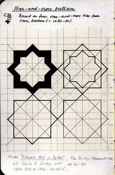 star quilt pattern, but a good basis for creating a wall stencil geometric Star Quilt Patterns, Cross Patterns, Star Quilts, Zentangle Patterns, Quilt Blocks, Zentangles, Star Blocks, Islamic Art Pattern, Pattern Art
