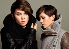 """¿Ya conoces a TEGAN AND SARA?    •Hermanas Gemelas  •Dúo canadiense de rock/pop indie  •A finales del 2003, fueron portada del número 49 de la revista ROCKGRL, que hacía un tributo en los dúos.  •""""Closer"""" es su más reciente sencillo"""