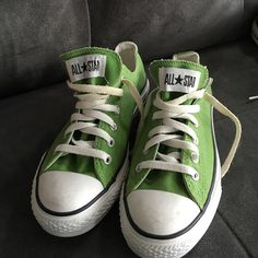 Converse Low Top Green Sneakers Low top green converse sneakers only worn a few times. A little dirty on the white soles. Green Converse, Converse Low Tops, Green Sneakers, Converse Sneakers, Young Avengers, Chuck Taylor Sneakers, Objects, Fashion Design, Fashion Trends