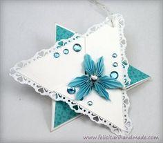 Felicitare Crăciun Stea / Christmas TriStar Card Christmas Crafts, Christmas Ornaments, Origami, Holiday Decor, Cards, Home Decor, Decoration Home, Room Decor, Christmas Jewelry