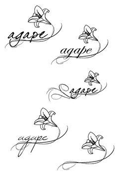 Agape tattoo! Agape its Greek for eternal love or selfless