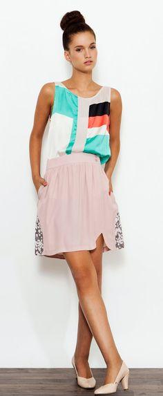 SALE! Pink Romantic Skirt , Circle Skirt , Summer Skirt , Pastel Skirt , High Waist Skirt , Mini Skirt , Full Skirt , Party Skirt