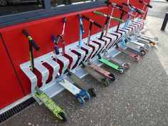 Outside Scooter Storage - My school needs this!