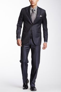 Solid Wool Suit by Giorgio Armani Uomo on @HauteLook
