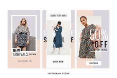 Really stunning feminine fashion ideas . Boutique Interior, Fashion Graphic Design, Graphic Design Posters, Lookbook Layout, Fashion Banner, Web Design, Newsletter Design, Editorial Layout, Instagram Story Template