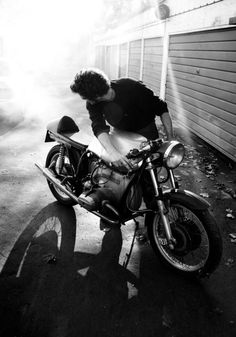 There is just something about a guy with a motorcycle...