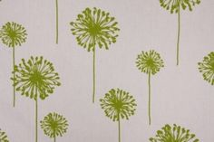 Premier Prints Dandelion Printed Cotton Drapery Fabric in Chartreuse White $7.48 per yard