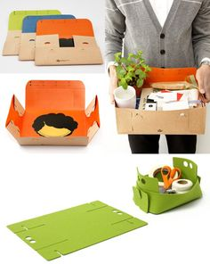 foam or felt boxes; use that green template