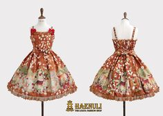 Haenuli Enchanted Fawn JSK by Haenuli Angelic Pretty, New Print, Knee Length Dresses, Line Design, Lolita Fashion, Indie Brands, Dream Dress, Victorian Fashion, Types Of Fashion Styles