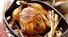 Sage Roasted Chicken with Sweet Potatoes and Parsnips