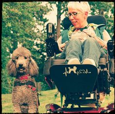 Me and my assistance dog Tana, Standard Poodle