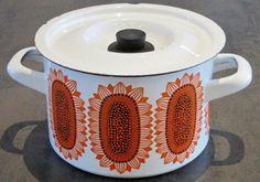 Arabia Finel, Auringonkukka 1960s -- Huuto.net 107e