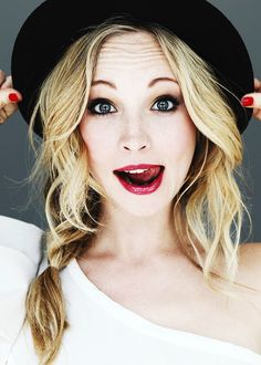 Candice Accola, Caroline Love the enthusiasm in her face haha. I love her!!