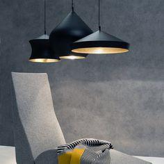 The shape of the Beat Stout Pendant is based on traditional brass cooking pots and water vessels in India. #AplusR #moderndesign #interiordesign #modernlighting #pendantlight #tomdixon #diningroomlighting #lightfixture #overheadlighting