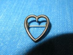 VINTAGE STERLING SILVER OPEN HEART PIN / BROOCH - ESTATE JEWELY #Unbranded
