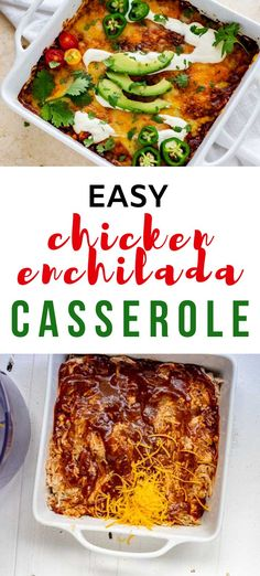 Mexican food without the carbs? Count me in! This Easy Chicken Enchilada Casserole is every bit as good as the original. Cheesy southwestern flavors will keep you coming back for more. #kickingcarbs #casseroles #easyrecipes #ketodinnerrecipes Easy Chicken Enchilada Casserole, Chicken Enchiladas, Mexican Food Recipes, Dinner Recipes, Keto Recipes, Gluten Free Recipes For Breakfast, Slow Cooker Beef, Casserole Dishes, Food Inspiration