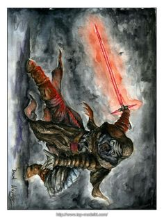 Watercolor: Kylo Ren By: Dark_Warrior  Artwithdarkwarrior.blogspot.com