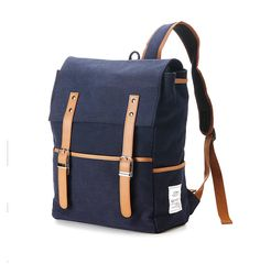 Hey, I found this really awesome Etsy listing at https://www.etsy.com/listing/169218565/belt-point-cotton-backpack-navy