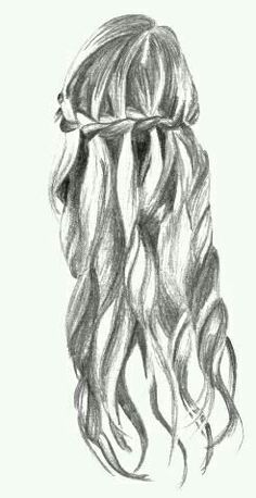 Waterfall braid drawing