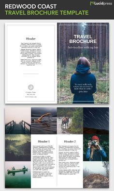 The 23 best Free brochure templates images on Pinterest   Free     Free Travel Brochure Templates   Examples