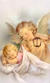 Shop Vintage Guardian Angel And Baby Greeting Card created by RetroMagicShop. Personalize it with photos & text or purchase as is! Vintage Cards, Vintage Images, Vintage Illustration, I Believe In Angels, Ange Demon, Angel Pictures, Prayer Pictures, Angels Among Us, Angels In Heaven