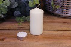 Κεριά Κυλινδρικά Λευκά Φ5x10εκ Pillar Candles, Taper Candles
