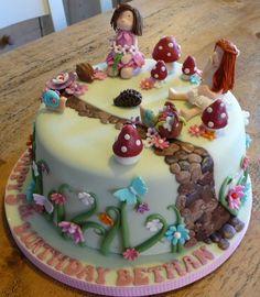 Fairy Garden Cake - by Jipscakes @ CakesDecor.com - cake decorating website