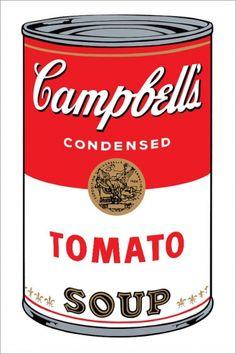 Andy Warhol, Campbells Soup Tomato, Sunday B. Morning