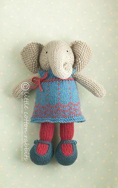 Amigurumi knitted elephant