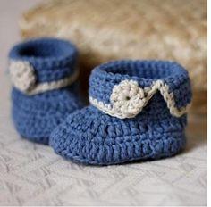Chaussons pour bébé au crochet , en Vidéo !