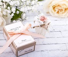 Coral Bridesmaid Gift. Will You Be My Bridesmaid Message in a Bottle. Asking Bridesmaid Wedding Invitation Gift - Wedding party invitations (*Amazon Partner-Link)