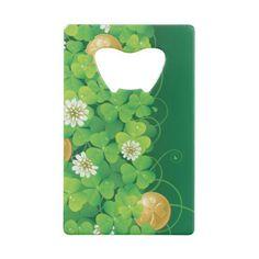 Irish Credit Card Bottle Opener - st patricks day gifts Saint Patrick's Day Saint Patrick Ireland irish holiday party