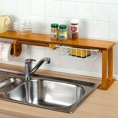 Storage Trays Double Layer Drying Rack Shelf Kitchen Dish Drainer Sink Storage Holder Tray For Fruits Vegetables E2s Dependable Performance Home Storage & Organization