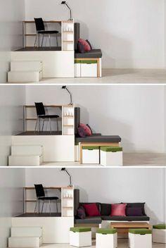 Tiny Apartments Tetran Cubes Home And Design Pinterest - Design your own furniture with tetran eco friendly modular cubes