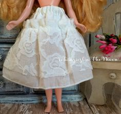 Blythe One Piece White Cotton Lace Ribbon by WhimsiesOnTheMoon