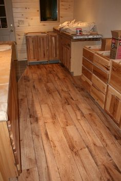 Vinyl Plank Flooring | Vinyl Floors Are Installed In Kitchen, Laundry Room  And Bathroom.
