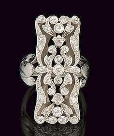 Art Deco diamond ring. Follow Renaissance Fine Jewelry or see us at www.vermontjewel.com. We sell the largest vintage and antique jewelry collection in Southern Vermont! Plus, we do expert custom design and restoration.