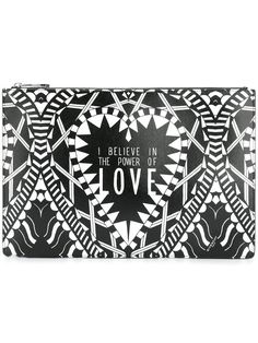 GIVENCHY  power of love printed clutch