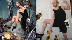 Jim Hines continues his project of re-creating ridiculous sexualized SF/Fantasy book covers