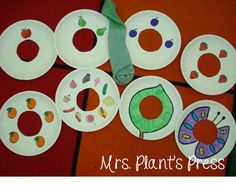 Mrs. Plant's Press: The Very Hungry Caterpillar. Such a cute activity!!!